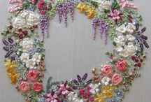 Ribbon embroideries