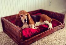 DOG bed /  Uśmiech psa znajduje się w jego ogonie. - W. Hugo  Mój piesek - serduszko u moich stóp - Edith Wharton   / by MK