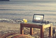 DIGITAL NOMAD / Digital nomad work, Laptop leisure, vagabonding and generally working where ever the wind takes me.
