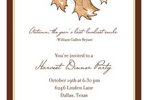 Fall Party Invitations