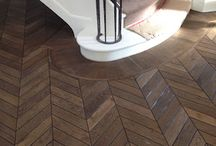 Chevron Parquetry Floor / Solid French Oak Chevron parquet floors by Renaissance Parquet