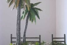 elaboración de palmas.