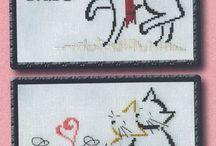 Bordado em ponto cruz Calendário dos gatos - Britly Kitty Monthly - Brittercup / Calendário dos gatos -Cross Stitch Pattern by Brittercup Designs  Desafio Fórum Coisas de Miúdas