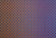 Annell Livingston Neo Op Art / Annell Livingston creates gouache watercolor paintings on paper.  Her neo-op art is amazing to view.