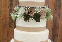 Wedding cake (burlap)