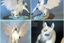 Pegasus Sculptures / Do you like what you see? Then don't forget to visit the authors of this pieces, and to follow me for more!!! :D