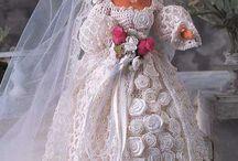Barbie blushing bride crochet