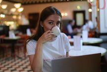 фото girl coffee