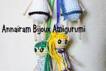 Le Pitine / sono bamboline/collana realizzate con la tecnica amigurumi..... idea copiata dalle famose Carose