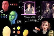 Artes/desenhos / artes aleatórias se for usar de referência de cor ou de ideia
