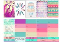 stickers hippy planner