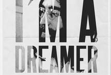 Lennon 'Dreamer' Inspiration / The inspiration behind our John Lennon Dreamer t-shirt design