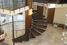 Custom Stairs / Treads, Noses, & Risers...Oh My! The right stairs can really get you going places.......check out some of our stair-master pieces.