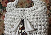 borsa bianca fettuccia