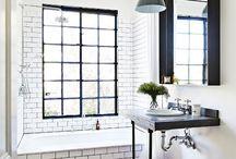 baño estilo vintage-industrial