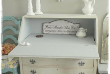"""""""Bertha"""" transformed - Painted Furniture / With some elbow grease, TLC, and of course, Annie Sloan Chalk Paint and Wax, this dirty, beat-up secretary cleaned up even better that I had hoped, and has found her way into my heart and my nest!"""