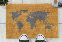 Cool Grey Doormats Collection / Artsy Doormats Cool Grey Range