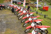 Honda offroad bikes / A day out on Kimmies Farm with the Honda riders and some novices