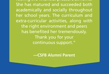 Quotes from CSFB Alumni and Parents / Giving parents a choice. Giving children a chance.