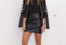 Saias de couro  - Leather skirts