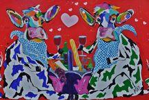 Koeien  schilderijen  Mir