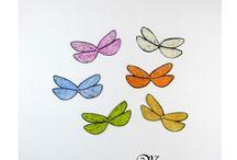 AILES INSECTES / libellules, insectes, abeilles, guèpes, ailes transparents ou teintées pour vos créations