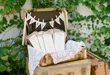 Esküvői program- és menükártyák - Wedding program and menu cards