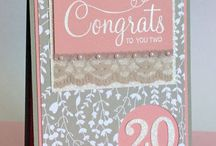 Stampin' Up! - Wedding, Anniversary, Engagement / Projects for couples' occasions.