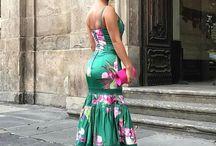 Vestido de festa longo florido