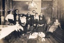 Victorian postmortem photography / Taken after someone died. Used as a memorial or keepsake of the deceased. The dead person was posed in a 'life like' position and May or may not be accompanied by other living family members. It can often be hard to tell which one is the dead one, but this was the whole point of the pictures.