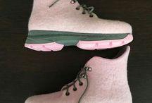 Обувь из войлока / Felting Wool