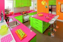 Color Madness - Cabinets for unique You / Really looking for something different?  Check out this selection of crazy different and awesomely unique looks!  Our designers don't judge!  We want to make your fun dream a total reality! http://www.cabinet-depot.com/