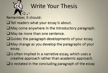 Writing-Thesis Statements / Activities for developing thesis statements