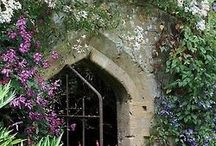 Secret Window in the secret garden. / gardens, hiding places, beautiful gates and lattice