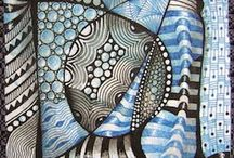 ZENTANGLES / Style of line and design art resembling doodles, but planned and organized.