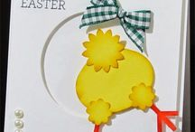 Easter card stamps templetes