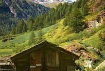 cabins and barns