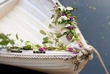 Getaway wedding boat / Wedding boat decorating ideas.