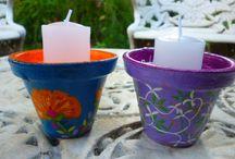 Minhas Pinturas: cerâmica / pintura à mão livre, acrílico sobre cerâmica
