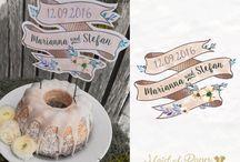 Caketopper und Hochzeitsdekos