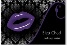 Makeup Artist Business Cards / chic beauty business cards, makeup artist business cards, salon and spa business cards