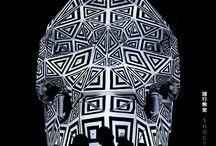 Shogyo Mujo - projection mapping skull / 3d projection mapping sculpture