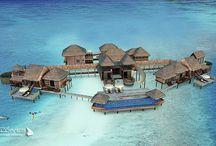 Hôtels et Lieux extraordinaires des Maldives