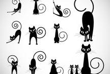 Gatos en caricatura / Imágenes de gatos en caricatura