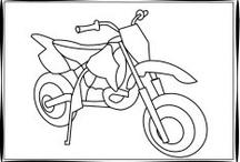 moottoripyörä ja polkupyörät / glass, biker, motorbiker, motocross, mx, tiffany