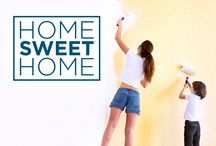 Home Sweet Home / A house isn't a home until you make it one! Here are some ideas that will make your house feel more like home, including DIY instructions, tips, design ideas and more!