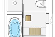 Disposição do banheiro