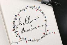 December Bullet Journal