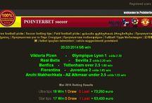 21.3.2014 5/5 win / sure win tips only pointerbet  Viktoria Plzen        -     Olympique Lyon 1  odds 2.30 win Real Betis        -     Sevilla 2 odds 2.20 win Benfica    -    Tottenham over 2.5 1.80 win Fiorentina    -    Juventus 2 odds 1.85 win Anzhi Makhachkala - AZ Alkmaar under 2.5 odds 1.55 win