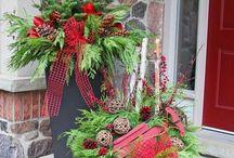 karácsonyi dekorációk kültérre